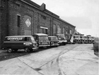 Granvilles vehicles parked outside the Power house in the 1960s