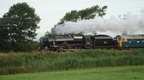 45231 and 47580 at Hest Bank on the Fellsman 31-07-2013