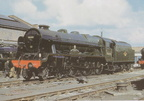 August 1960, Royal Scot Class No.46144 Honourable Artillery Company is seen here in Crewe works, after what would be its final heavy general overhau
