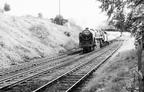 72008 Clan McCloud approaches Cinderella bridge, Hest Bank  1959