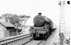 45737 Samson at the level crossing Hest Bank  1959