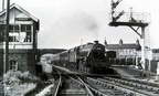 45409  with the 5.37 Manchester - Buxton passing Dove Holes on 7th June 1960