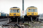 Two 303 units, 078 & 048 in Hyde Road Sidings, Longsight.