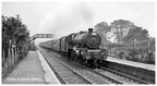 45717 Jubilee Class  Dauntless  going through Bolton le Sands railway station in 1962