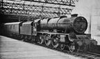 45512 'Bunsen' (before fitting of smoke deflectors) at the now long closed Manchester Mayfield station ..about 1949