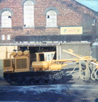 Dukinfield Wago Works i think a Sherman tank having been converted into a drill 1970s ,Robinson and Kershaws sign can still be seen on the wall