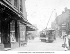 A TRAM makes its way along lower Market Street in the 1900s, heading for Ashton