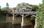 Goods Train crossing the Crook O' Lune Railway bridge approaching Caton Station
