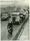 Donald Campbell's Bluebird K7 crossing Skerton Bridge, January 1955