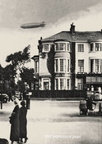 The Hindenburg over Morecambe. Photographed from Northumberland Street Morecambe. 1936