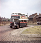 Ashton Bus Peacock Blue and Cream livery,pictured on Manor St,near the junction of Sackville St and Harley St,probably 1950s.