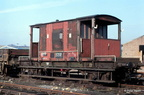 Brake van at Manton 12-3-87.