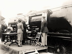 'Christening' London, Midland & Scottish Railway's Coronation class 4-6-2 locomotive 6250 'City of Lichfield', 1944