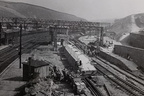 Construction work at Dunford Bridge, September 1953. BR photo.