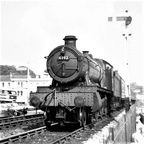 49xx 4992 'Crosby Hall 'of Exeter Shed passing Dawlish.1959