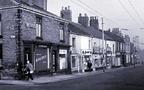 Market St with corner of Edna St - 1950s.