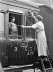 Female railway workers cleaning carriages,Great Central Railway.1917.