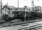 08686 MIDLAND shunts at Dewsnap sidings.1982
