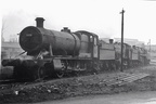 3808 , 6384 and 73036 outside Tyseley in 1956