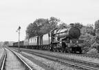 4073 Class 4-6-0 No 7011 'Banbury Castle' passes Budbrook with a Shrewsbury to Paddington parcels train on the Aug 1964