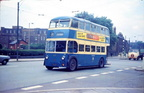 A Stalybridge bound Ashton corporation trolley bus,on Stamford St East,around the early 1960s,bottom of Mossley Rd