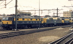1502 with 1213, 1127 and a 16xx class loco at Venlo. June 1986.