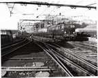 'Sheffield Victoria January 30th 1955  Class EM2 Co-Co No. 27005 comes off the Wicker Viaduct  - electrically hauled from Guide Bridge