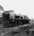 34001 Exeter at 70A Nine Elms in 1965