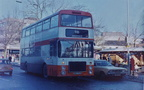 A Greater Manchester Transport Dennis reg.NNA 134W No.1446 at Hyde market on a 330 service to Stockport. c.1983.