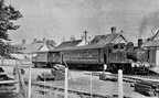 1449 at Uffculme on a mixed train in 1958