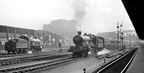 1920's shot with no documentation at all. An unidentified Star class 4-6-0 departing from Paddington and a Saint reversing towards Old Oak Common. Taken from the long parcels platform.