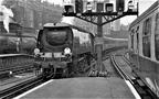 London Victoria  Battle of Britain 34074 '46 Squadron' with a Dover Marine to Victoria train..1952.