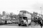 A number 30 bus on a very busy looking Warrington St,1960s,the George & Dragon in the background