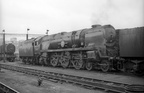Merchant Navy 4-6-2 35017  Belgian Marine  on Nine Elms shed in the mid 1960s