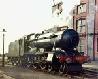 1011 County of Chester at Swindon after hauling an S.L.S. special from Birmingham in 1964.