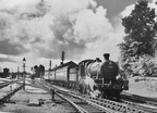 43XX 2-6-0 No. 6335 leaving Welshpool with a train for Oswestry in1958.
