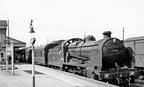 Cheltenham Spa Malvern Road station, train from Andover Junction, 14 April 1959