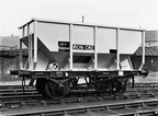 British Railways 25½ ton iron ore hopper wagon No 438244, built at Shildon Works in 1956.