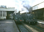 GWR 0-4-2 Tank 1471 and GWR Small Prairie Tank 5555 At Tiverton Station October 1962