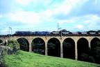 2 x 1500 d.c. Class 76 MGR   Oxspring Viaduct near Penistone..1970's.