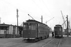 Grimsby & Immingham cars 12 and 30 at Immingham Docks tram station in 1956.