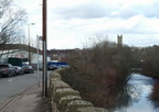 The old London and North-Western Railway viaduct passing over the River Tame on the Dukinfield-Ashton boundary and Riverside-Corra Street, Dukiinfield 2018. Until 1st April 1974,