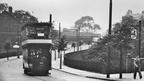 HYDE - Trams on Stockport Rd, outside Lamb Inn