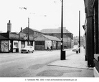 ASHTON - Old Street, showing (Esso) petrol station with Austin A40 in front (opposite side of road Morris Minor) and site of pedestrian shopping precinct - 1960's.