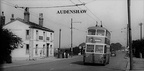AUDENSHAW - Trolley Bus passing The Snipe - 1950's.