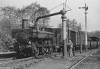 2044 having its pannier tanks filled at Coleford Junction in 1948.