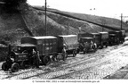 HYDE (GODLEY) - Maypole Dairy Co Ltd. Steam wagons near Godley Viaduct. Maypole Dairies later became the Walls Meat Company in 1925.