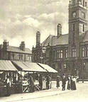 HYDE - Corner of market, showing town hall.