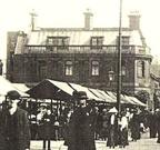 HYDE - Midland bank & market (over 100 years ago).