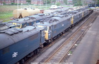 A line-up of stored Class 76s at Reddish on May 29, 1981